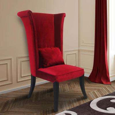 red kitchen chairs unfinished oak cabinets dining room furniture the home depot velvet and black wood finish chair