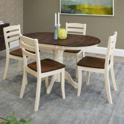 Dark Brown Wooden Dining Chairs Black Gothic Throne Chair Corliving Dillon 5 Piece Extendable And Cream Solid Wood Set