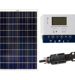 grape solar 100 watt off grid solar panel kit gs 100 kit the home wiring 4 wire 220 to 3 prong plug as well solar panel prices [ 1000 x 1000 Pixel ]