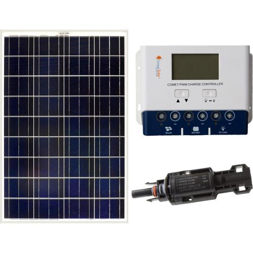 small resolution of grape solar 100 watt off grid solar panel kit gs 100 kit the home wiring 4 wire 220 to 3 prong plug as well solar panel prices