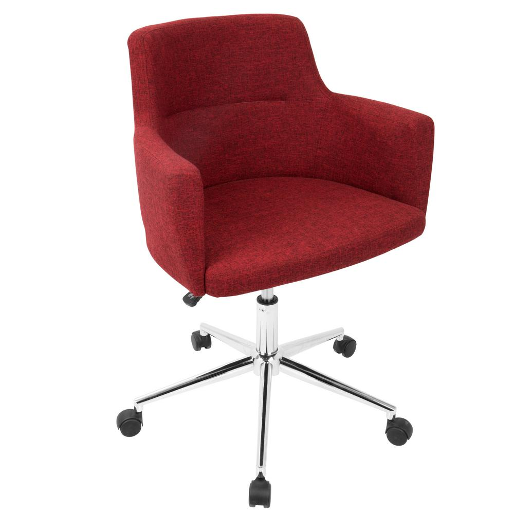 chairs for office double lounge chair outdoor lumisource andrew contemporary adjustable red fabric oc
