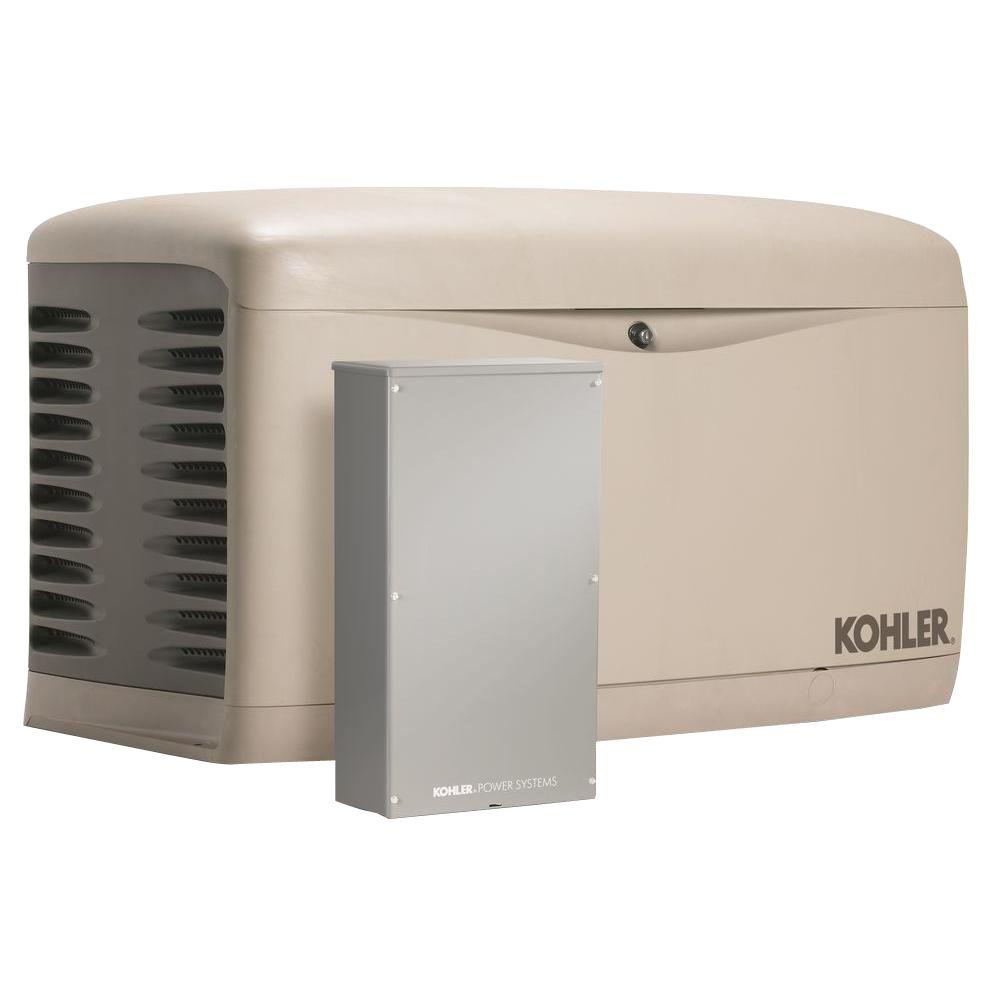 medium resolution of kohler 20 000 watt air cooled standby generator with 200 amp service entrance rated automatic transfer