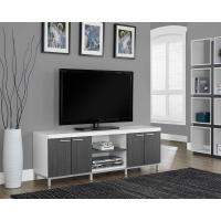 Monarch Specialties Hollow Core White and Grey Storage ...