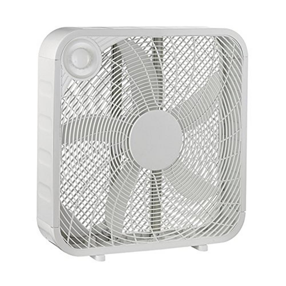 hight resolution of white box high velocity fan with 3 setting speeds