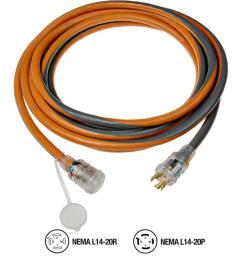 ridgid 25 ft 12 4 generator cord 615 16046ab the home depot 20 amp extension cord wiring diagram [ 1000 x 1000 Pixel ]