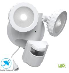 180 degree white solar powered motion activated outdoor integrated led flood light [ 1000 x 1000 Pixel ]