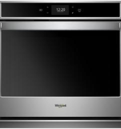 smart single electric wall oven with true convection cooking in black on stainless steel [ 1000 x 1000 Pixel ]