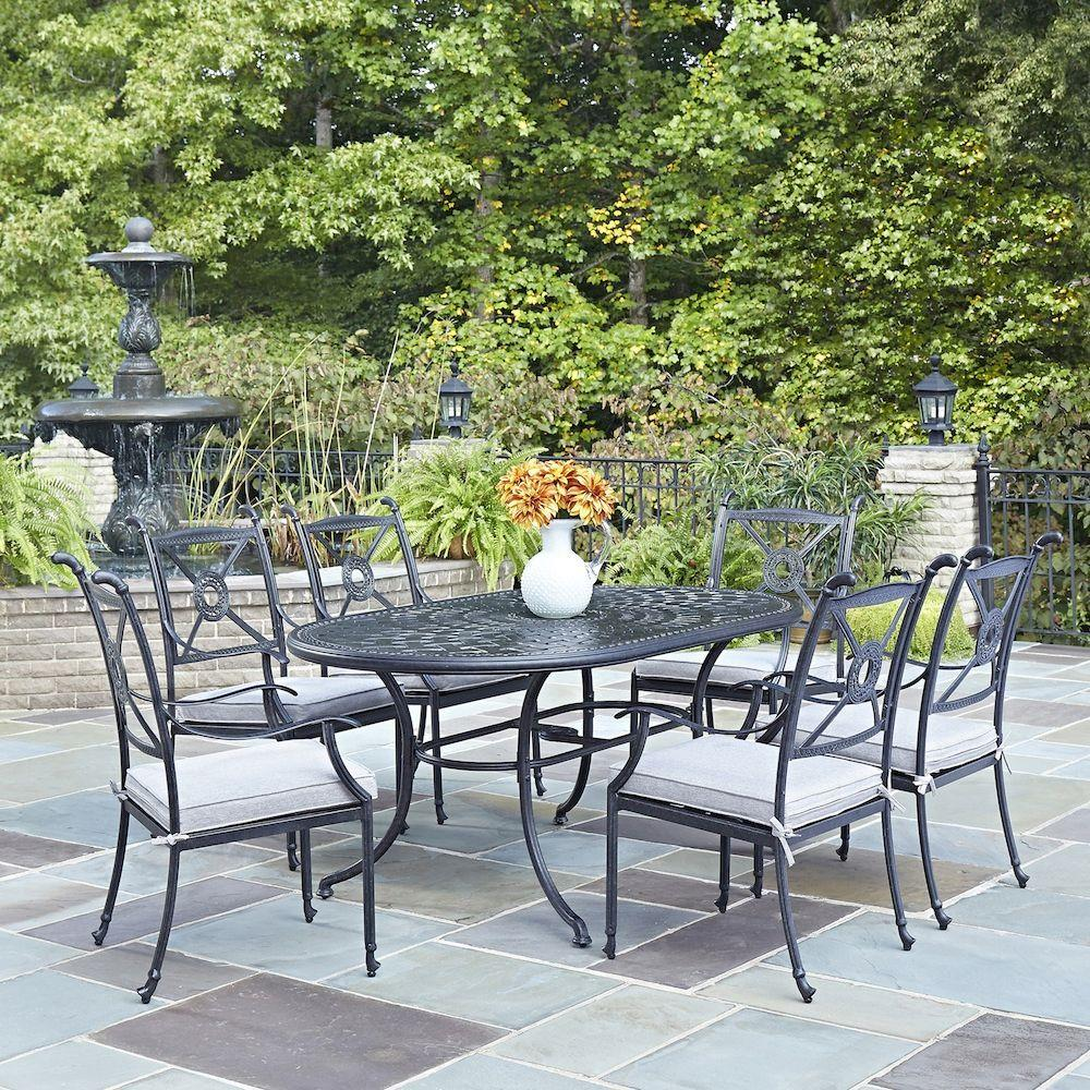 Home Styles Athens Charcoal 7Piece AllWeather Cast