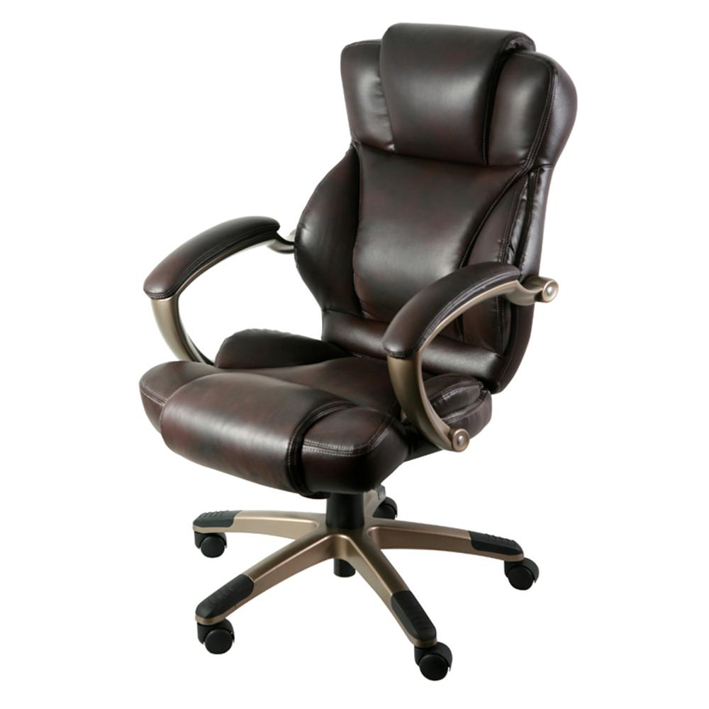 ZLine Designs Brown Leather Executive Office ChairZL5010