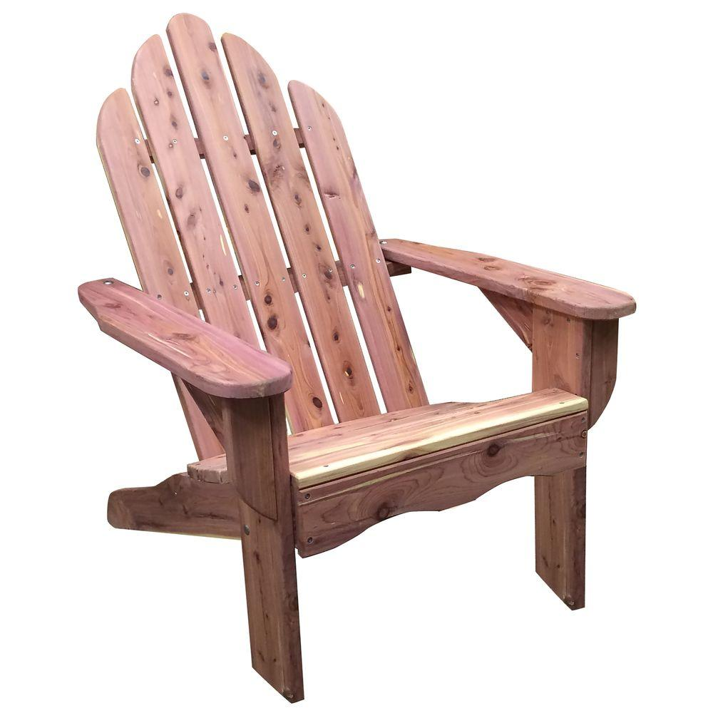 unfinished adirondack chair desk height amerihome amish made cedar patio 801712 the home depot