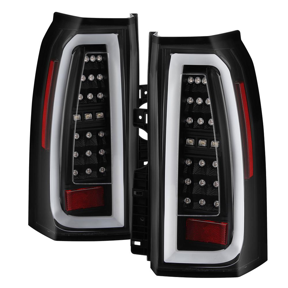 hight resolution of chevy tahoe suburban 15 17 light bar led tail lights black