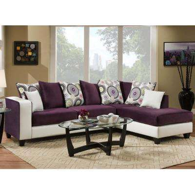 purple living room furniture sofas decorating ideas for with hardwood floors the home depot riverstone implosion velvet sectional
