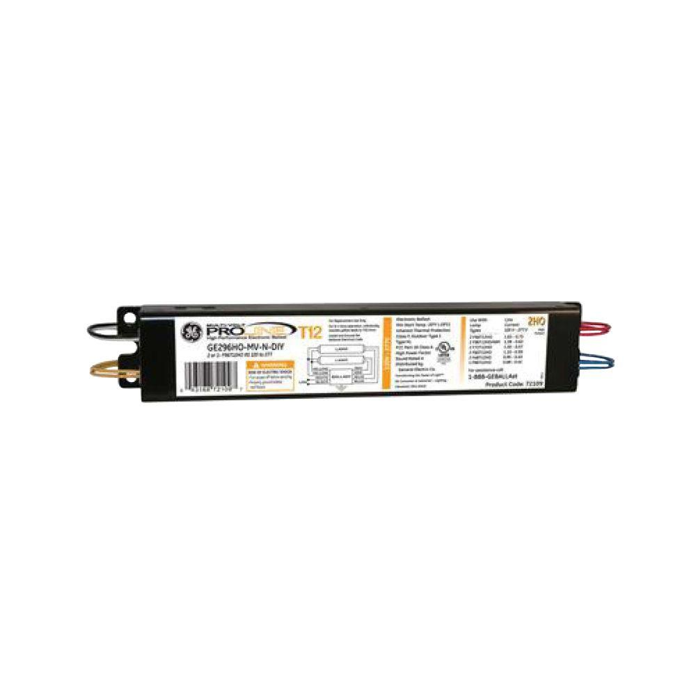 hight resolution of ge 120 to 277 volt electronic ballast for hi output 8 ft 2 lamp t12 rh homedepot com ge proline t12 ballast wiring diagram ge proline t12 ballast wiring