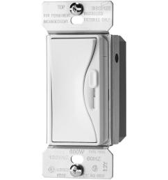 300 watt 3 way dimmable led cfl dimmer with preset in alpine white [ 1000 x 1000 Pixel ]