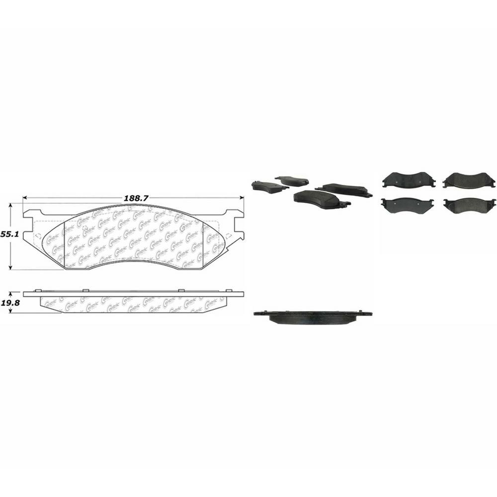 medium resolution of posi quiet extended wear disc brake pad w shims hardware preferred rear