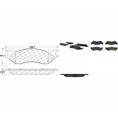 small resolution of posi quiet extended wear disc brake pad w shims hardware preferred rear