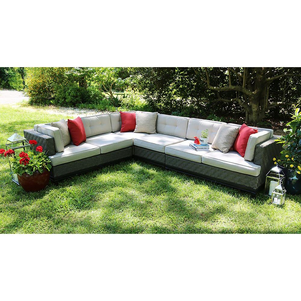 sunbrella fabric sectional sofas sofa sleepers queen size ae outdoor camilla 4 piece all weather wicker patio with