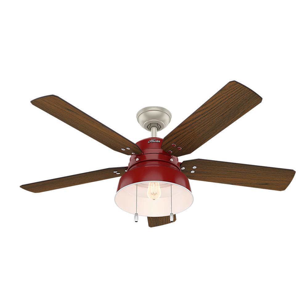 Hunter Duncan 52 in. LED Indoor Fresh White Ceiling Fan