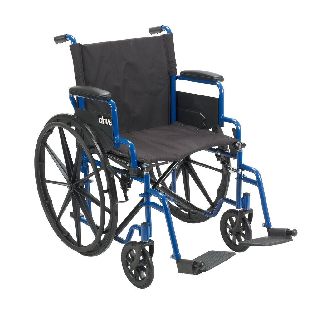 drive wheel chair shaggy bean bag blue streak wheelchair with flip back desk arms 20 in seat and swing
