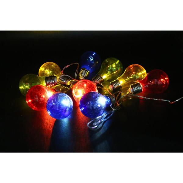 Alpine Corporation 10-light Multi-color Led Light Bulbs With Edison Bulb String Lights Set Of