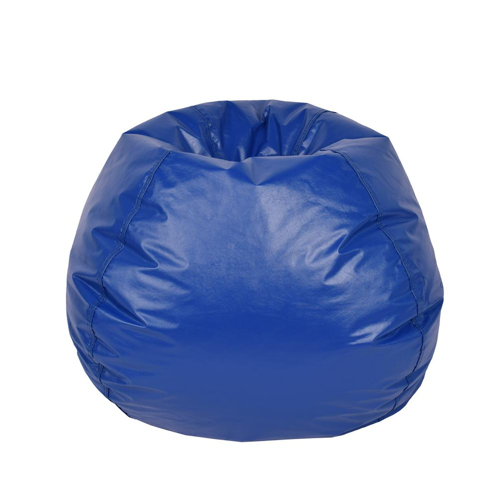 where to buy bean bag chairs maroon office chair the home depot blue vinyl