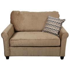 Twin Chair Sleeper Sofa Black Leather Club Chairs Casey Size Grey Velvet 2153459 The Home Depot Serena Khaki Plush Microfiber