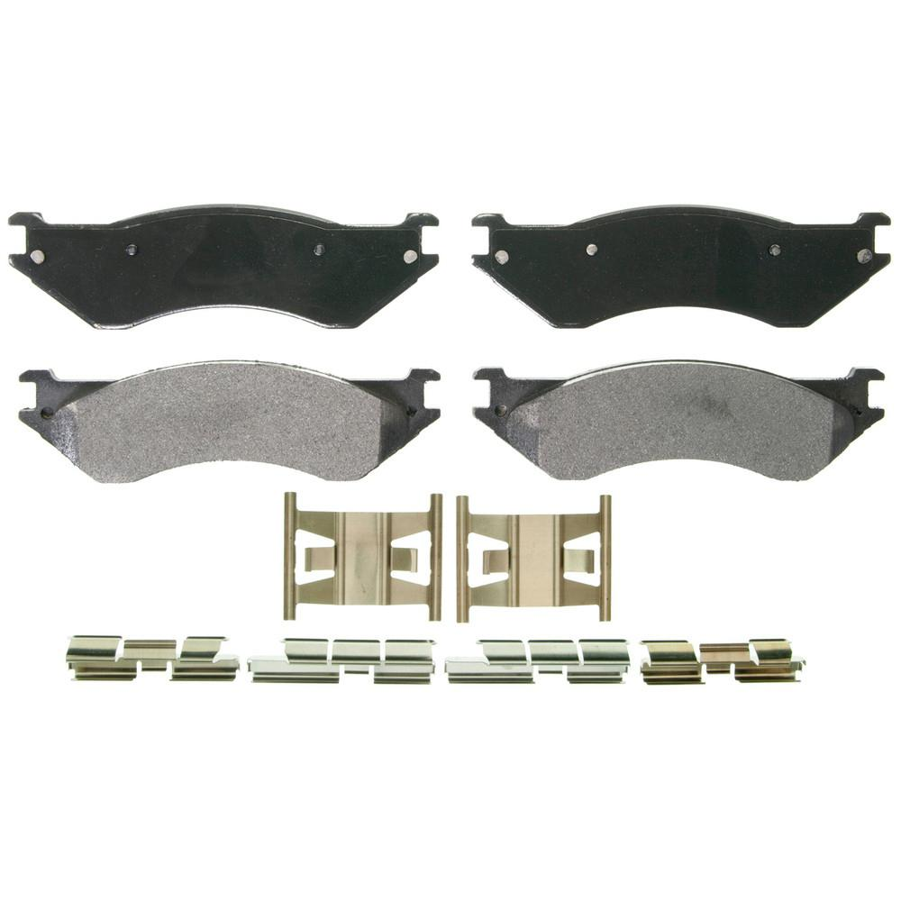 medium resolution of disc brake pad set 2000 2001 dodge ram 1500 3 9l 5 2l 5 9l