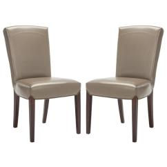Leather Side Chair Wood Glider Safavieh Ken Clay Bicast Set Of 2 Hud8200b Set2