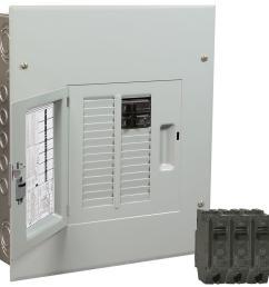 ge powermark gold 100 amp 12 space 22 circuit indoor main breaker value kit [ 1000 x 1000 Pixel ]