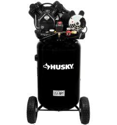 husky 30 gal 155 psi ultra quiet portable electric air compressor [ 1000 x 1000 Pixel ]