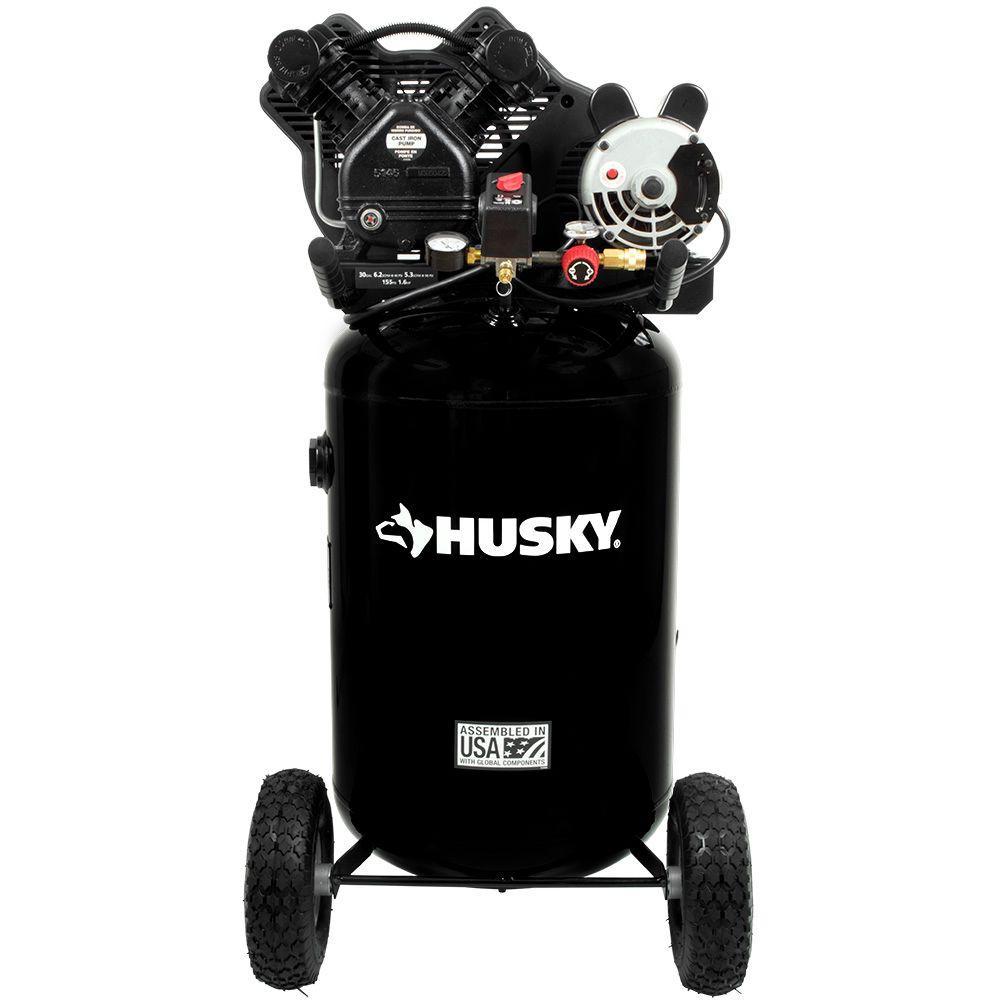medium resolution of husky 30 gal 155 psi ultra quiet portable electric air compressor