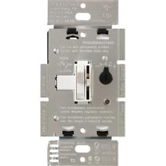 Lutron 3 Way Dimmer Switch Wiring Diagram Paragon Timer 8145 20 Toggler C L For Dimmable Led Halogen And Incandescent Bulbs Single Pole Or Ivory Tgcl 153ph Iv The Home Depot