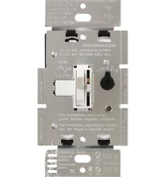 lutron toggler c l dimmer switch for dimmable led halogen and incandescent bulbs single  [ 1000 x 1000 Pixel ]