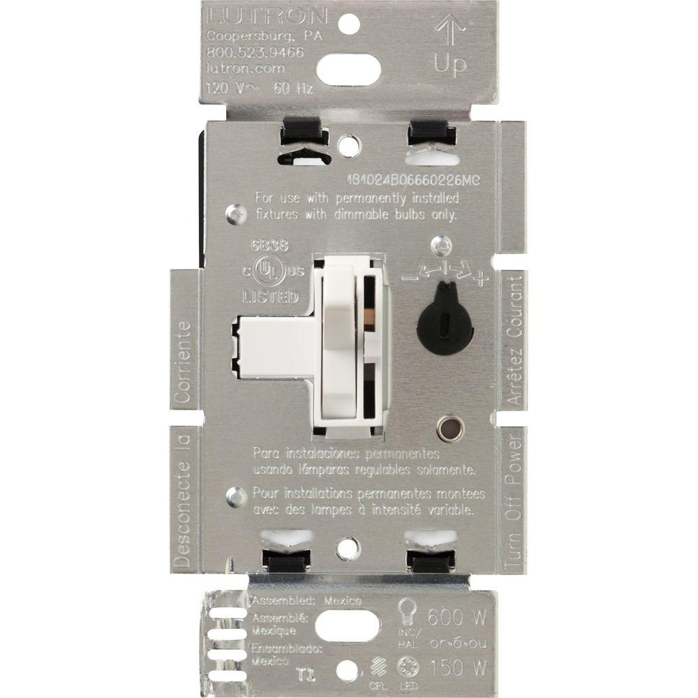 hight resolution of toggler c l dimmer switch for dimmable led halogen and incandescent bulbs single pole or 3 way white