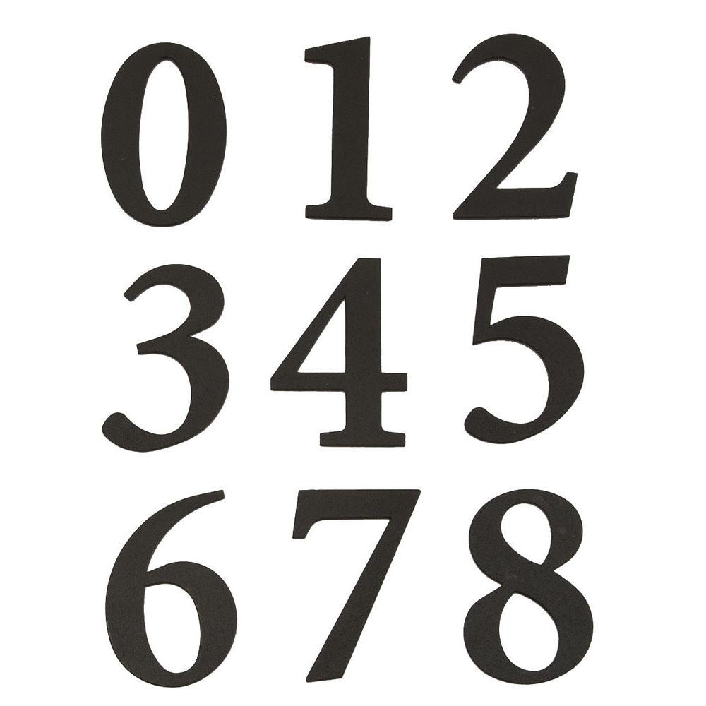 HY-KO 2-3/8 in. Self-Adhesive Vinyl Black Numbers Set-MM