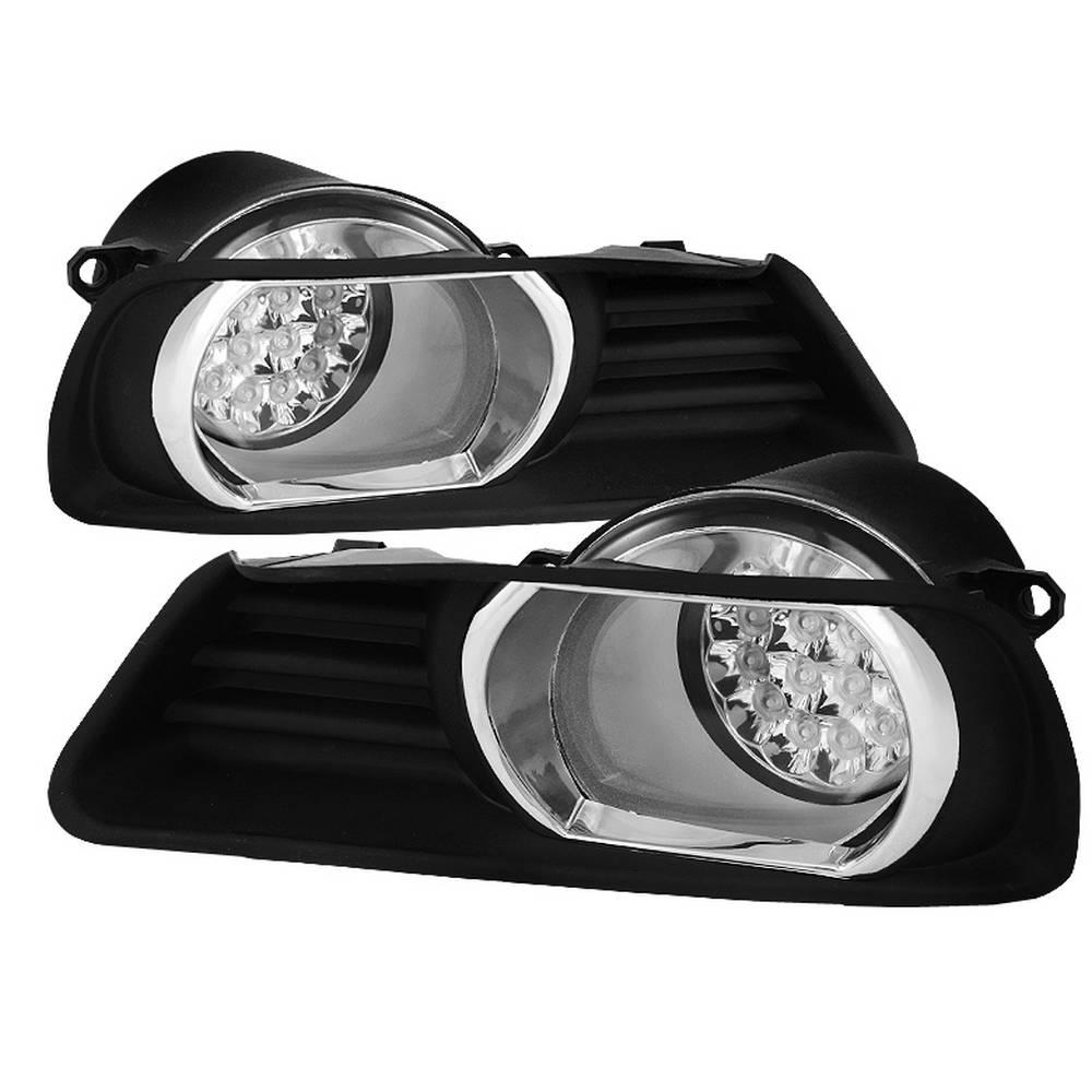hight resolution of spyder auto toyota camry 07 09 led fog lights w switch clear