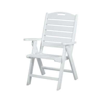 white plastic lounge chairs saddle leather chair outdoor patio the home depot nautical highback dining