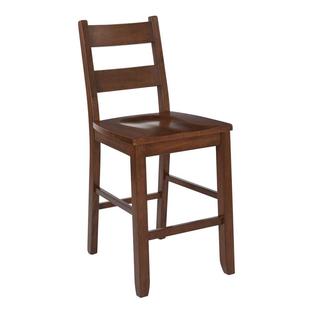 chair and matching stool leather parsons kitchen counter 24 in vintage oak bp 4202 887 the home depot