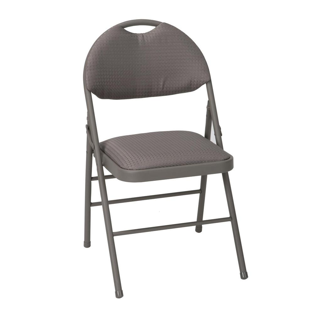 Cosco Folding Chair Cosco Taupe Metal Frame Padded Seat Folding Chair Set Of 4