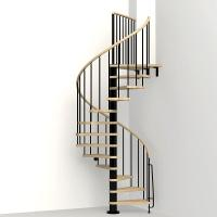 Arke Phoenix Black 47 in. Spiral Staircase Kit-K07082 ...