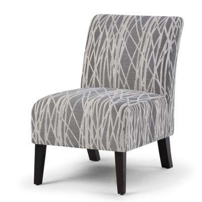 modern slipper chair wood lawn chairs gray accent the home depot woodford grey and white fabric