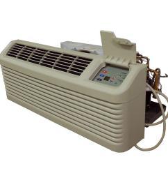 14 200 btu r 410a packaged terminal heat pump air conditioner 3 5 kw electric heat 230 volt [ 1000 x 1000 Pixel ]
