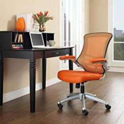 Orange Office Chair Armless Covers Wheels 4 Up Desk Chairs Home Attainment In Black Tan