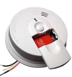 firex hardwire smoke detector with 9v battery backup and front load battery door [ 1000 x 1000 Pixel ]