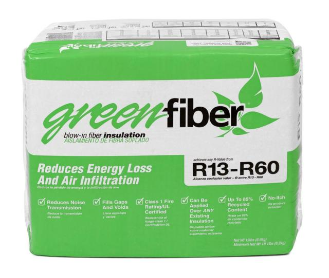Greenfiber Low Dust Cellulose Blown In Insulation  Lbs Insld The Home Depot