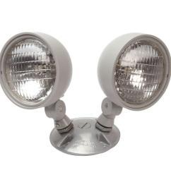 nicor 7 2 watt dual head weatherproof indoor outdoor emergency remote lamp fixture [ 1000 x 1000 Pixel ]