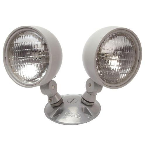 small resolution of nicor 7 2 watt dual head weatherproof indoor outdoor emergency remote lamp fixture
