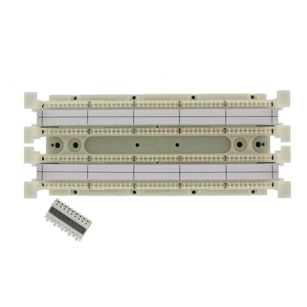hight resolution of cat 5e 110 style wiring block kit wall mount without legs for c 5 connector clips ivory 100 pair
