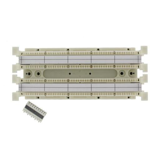 small resolution of cat 5e 110 style wiring block kit wall mount without legs for c 5 connector clips ivory 100 pair