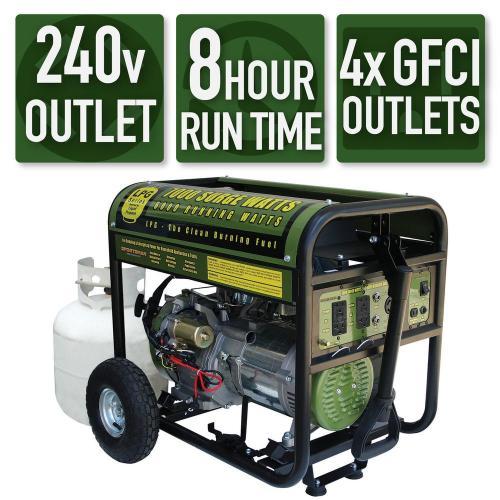 small resolution of 7 000 6 000 watt propane gas powered electric start portable generator